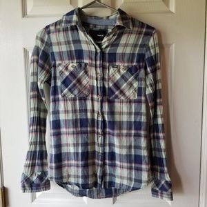 Hurley Surf Plaid Button Down Shirt Woman's XS